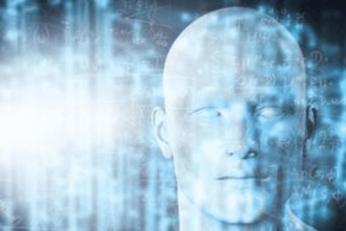 κεφάλι ανθρώπου μέσα από ψηφιακό σύστημα
