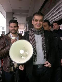 Ο Βαγγέλης Αυγουλάς στη διαδήλωση
