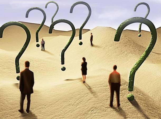 άνθρωποι και δίπλα τους μεγάλα ερωτηματικά