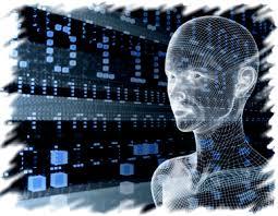 ανθρώπινος εγκέφαλος μέσα από υπολογιστή