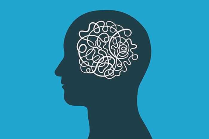 σκίτσο ανθρώπινου κεφαλιού και εγκέφαλος