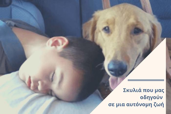 παιδί που κοιμάται δίπλα σε σκύλο