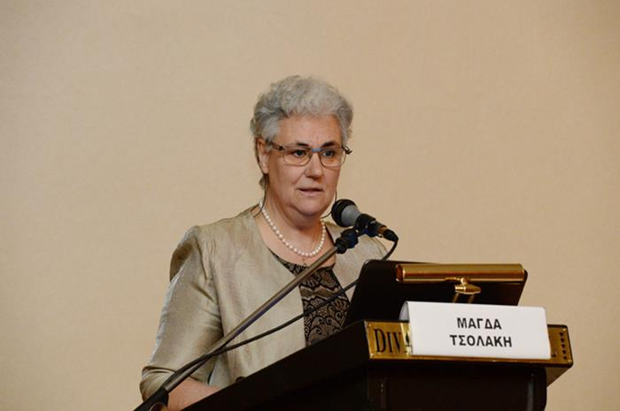 Η Μάγσα Τσολάκη στη Συνέντευξη Τύπου