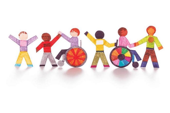 σκίτσο παιδιών με και χωρίς αναπηρία