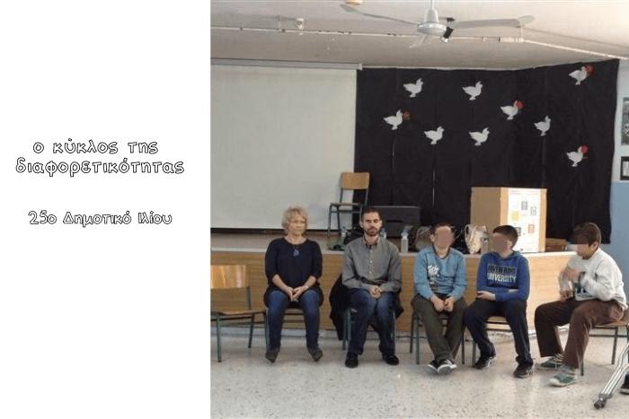 Ο Βαγγέλης με μαθητές