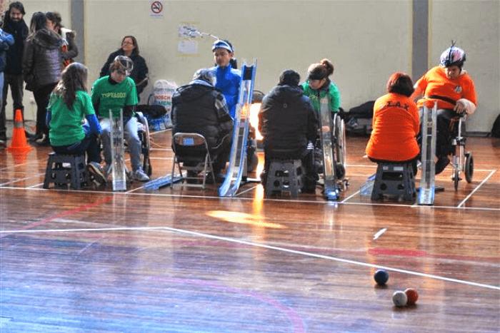 αθλητές στην ημερίδα boccia