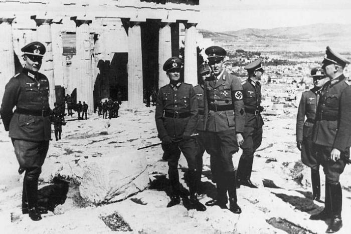 Γερμανοί Στρατιώτες στην Ακρόπολη