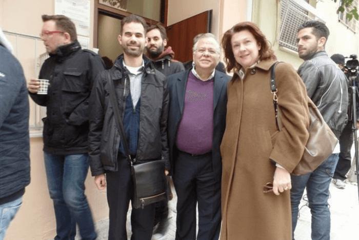 Ο Βαγγέλης Αυγουλάς με τους Κώστα Γιαννόπουλο και Τίνα Καφατσάκη