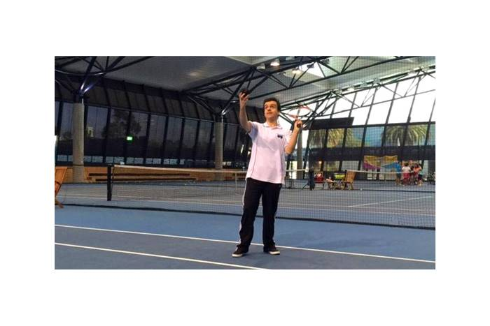 Ο Χρήστος Κυπραίου στο τένις