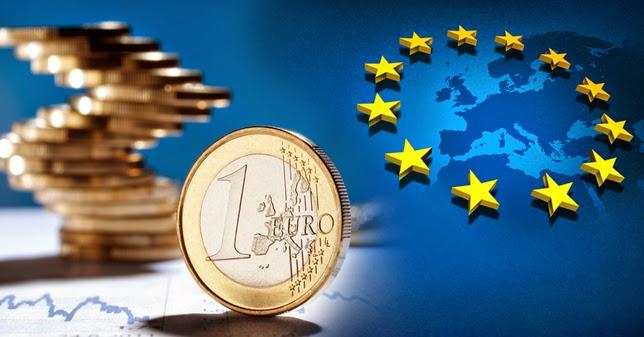 εικόνα με ευρώ και σήμα της ευρωπαϊκής ένωσης