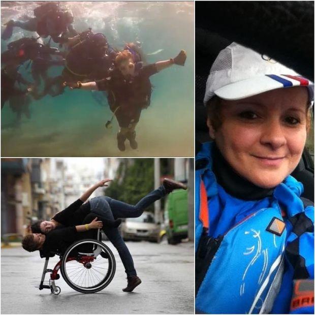 Η Ειρήνη Κουρουβάνη στο βυθό της θάλασσας και στο αναπηρικό αμαξίδιο χορεύοντας