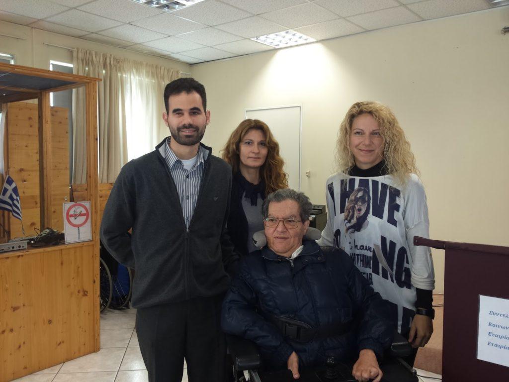 Ο Βαγγέλης Αυγουλάς με τους Μαρίνα Σιμονετάτου, Τάσο Μερκούρη και Γεωργία Παναγοπούλου