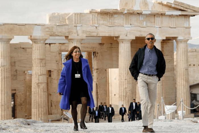 Ο Μπαράκ Ομπάμα στην Ακρόπολη