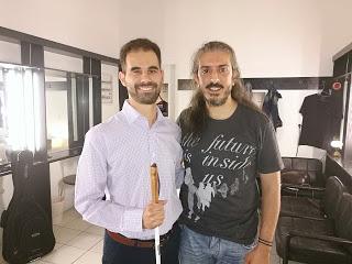 Ο Βαγγέλης Αυγουλάς και ο Γιάννης Χαρούλης