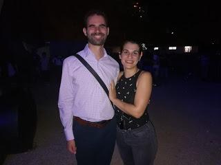 Ο Βαγγέλης Αυγουλάς με τη συντονίστρια της συναυλίας