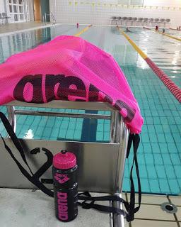 Τμήμα του κολυμβητικού μου εξοπλισμού από την εταιρεία Arena