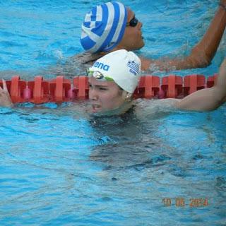 μετά τον τερματισμό στα 200 μέτρα μικτή, όπου κολύμπησε 30 εκατοστά πάνω από το πανελλήνιο ρεκόρ.