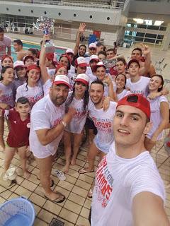 Από τους πανηγυρισμούς μας στις 25 Ιουνίου 2017 για την κατάκτηση του Πρωταθλήματος από τον Ολυμπιακό για την κολυμβητική χρονιά 2016-2017 στο ΟΑΚΑ