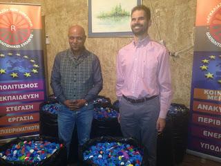 Ο Βαγγέλης Αυγουλάς με τον Πρόεδρο του συλλόγου Απόστολο Αθανασόπουλο
