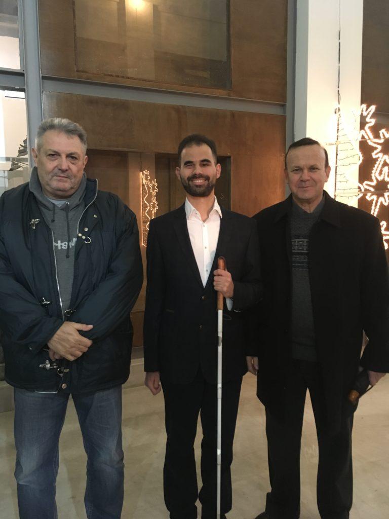 Ο Βαγγέλης με τον κο Βουγιουκλίδη και τον κο Δεληγιάννη