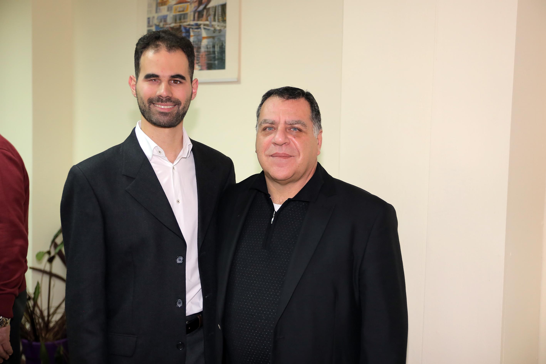Ο Πρόεδρος του Ο.Ν. με τον Πρόεδρο του ΝΑΤ κ. Κομματά