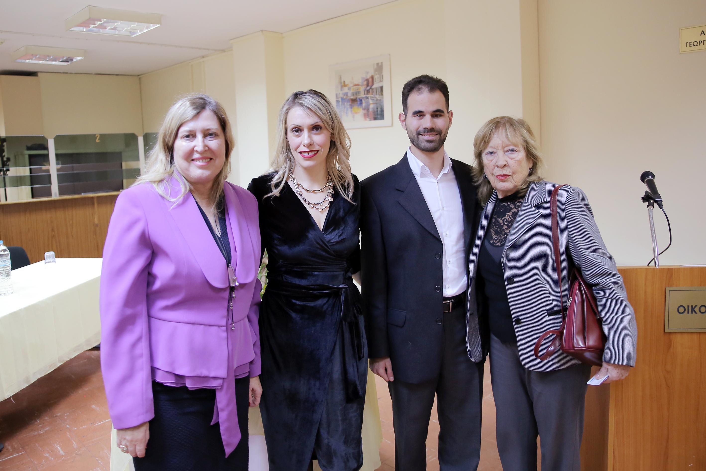 Ο Πρόεδρος και ο Αντιπρόδερος με τις κυρίες Σταματάκη και Καρακώστα