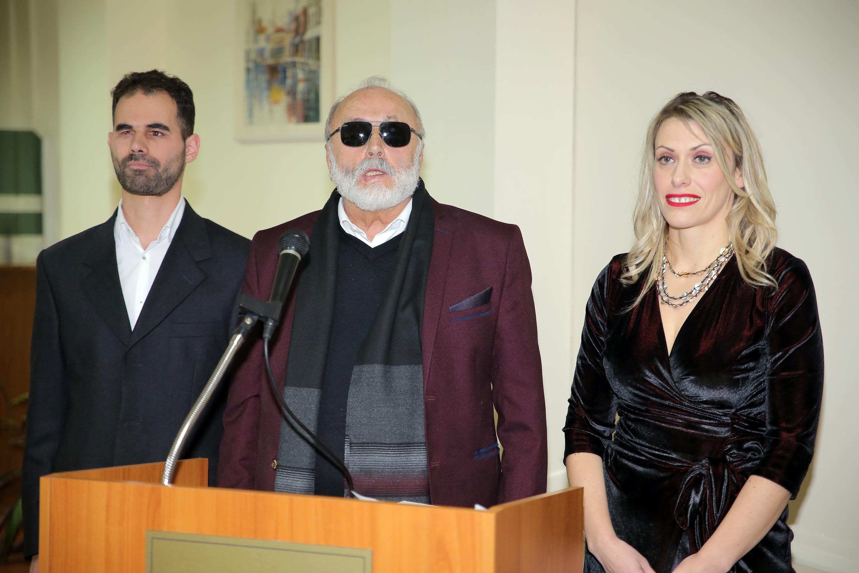 Ο Παναγιώτης Κουρουμπλής με τον Πρόεδρο και την Αντιπρόεδρο του Ο.Ν.