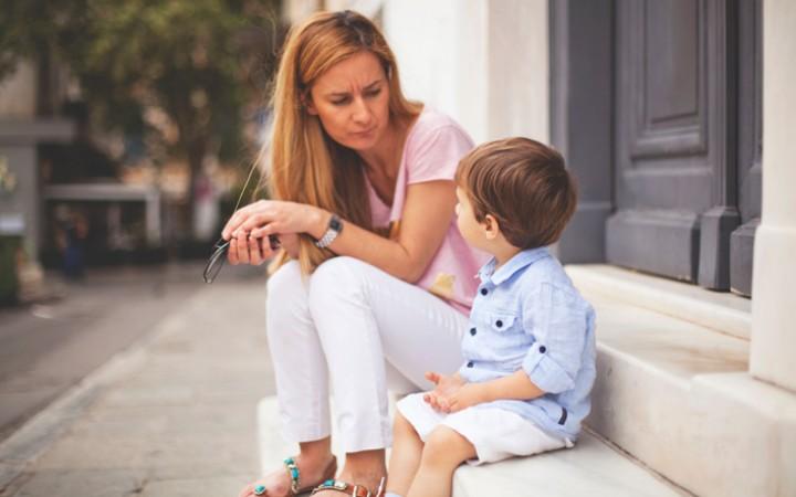 Παιδί με μητέρα