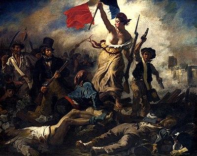 πίνακας του Ευγένιου Ντελακρουά «Η Ελευθερία οδηγεί το Λαό»