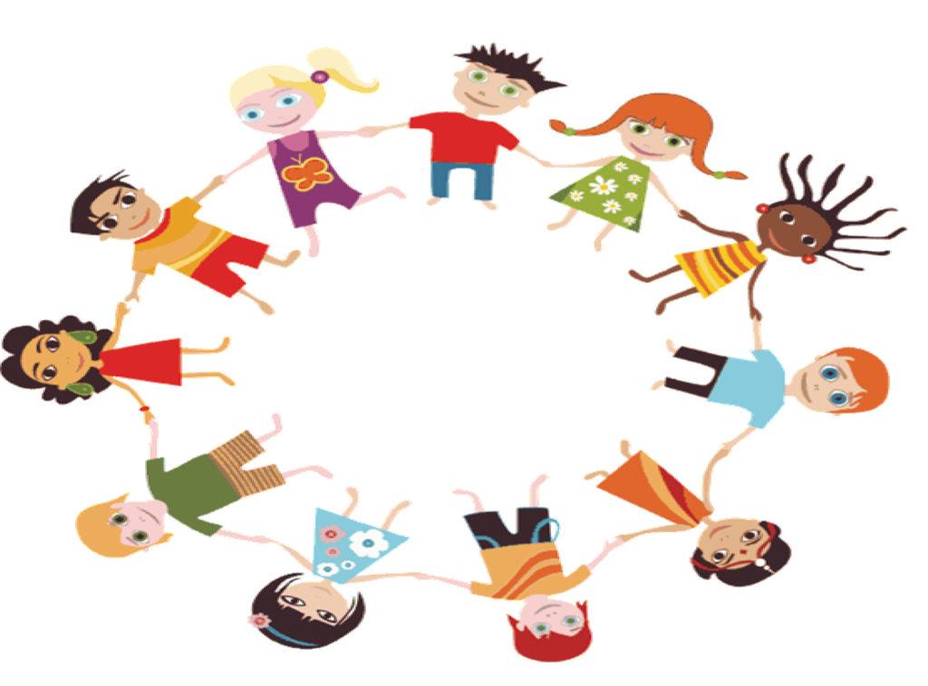 Σκίτσο παιδιών σε κύκλο