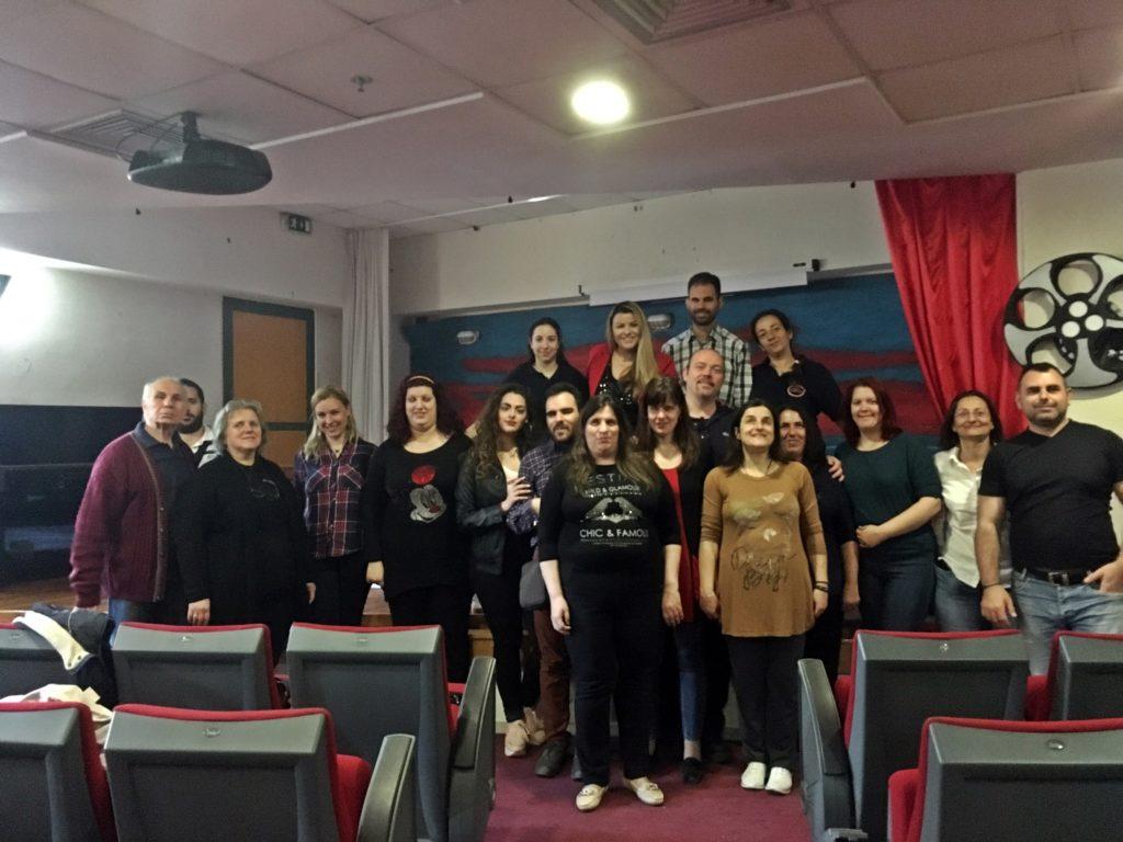 Ομαδική φωτογραφία εκπαιδευτών και συμμετεχόντων του σεμιναρίου