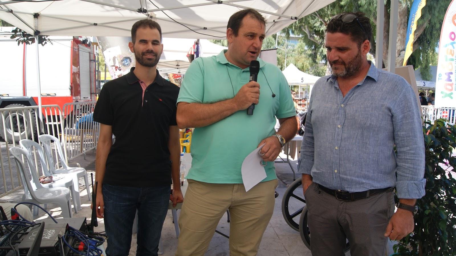 ο πρόεδρος της ΔΗΚΕΗ κ. Γιώργος Τσαγκαράκης ως εκπρόσωπος του Δήμου Ηρακλείου