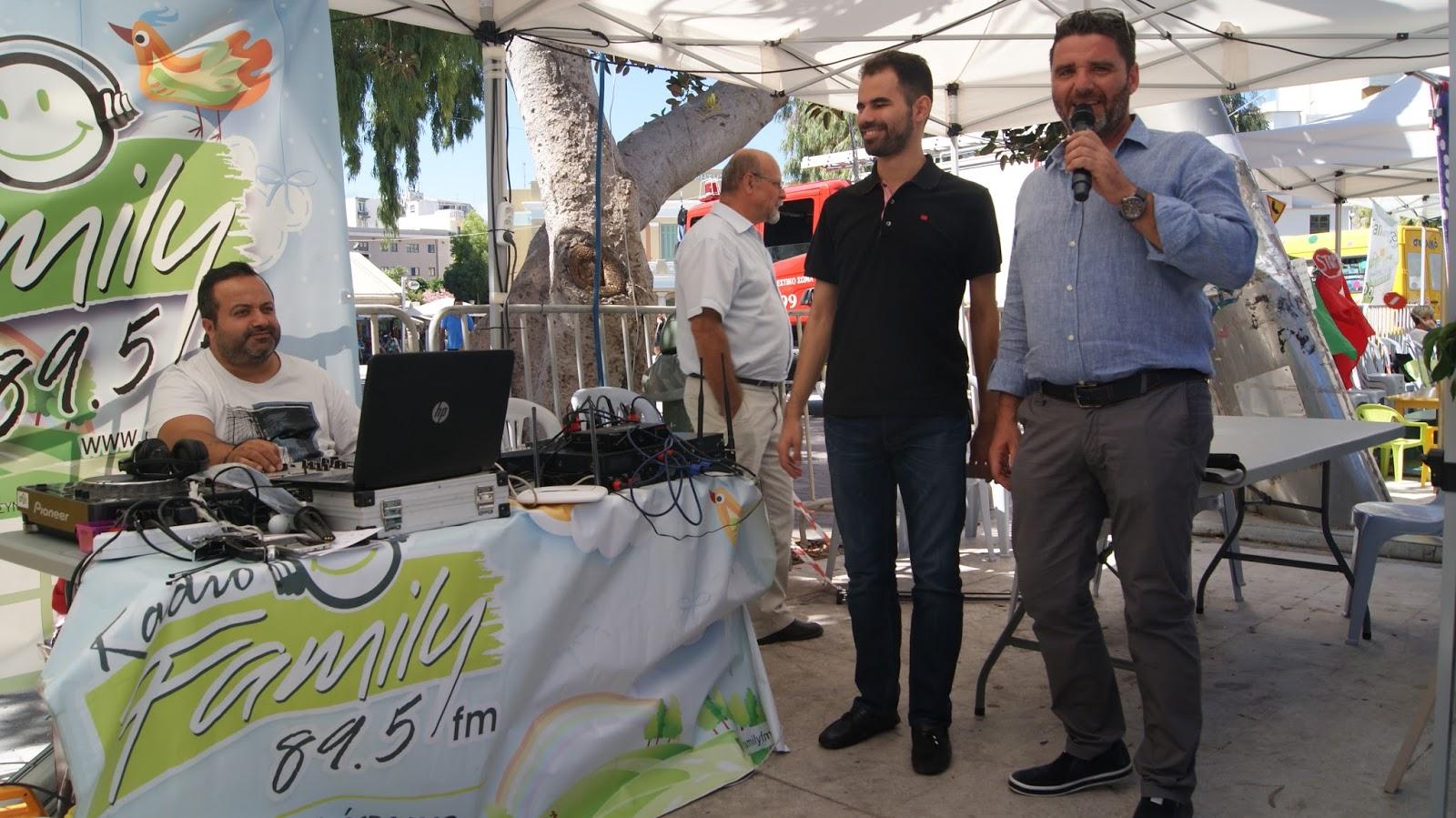Ο Βαγγέλης Αυγουλάς και ο Μιχάλης Δρακάκης στο κυκλοφοριακό πάρκο