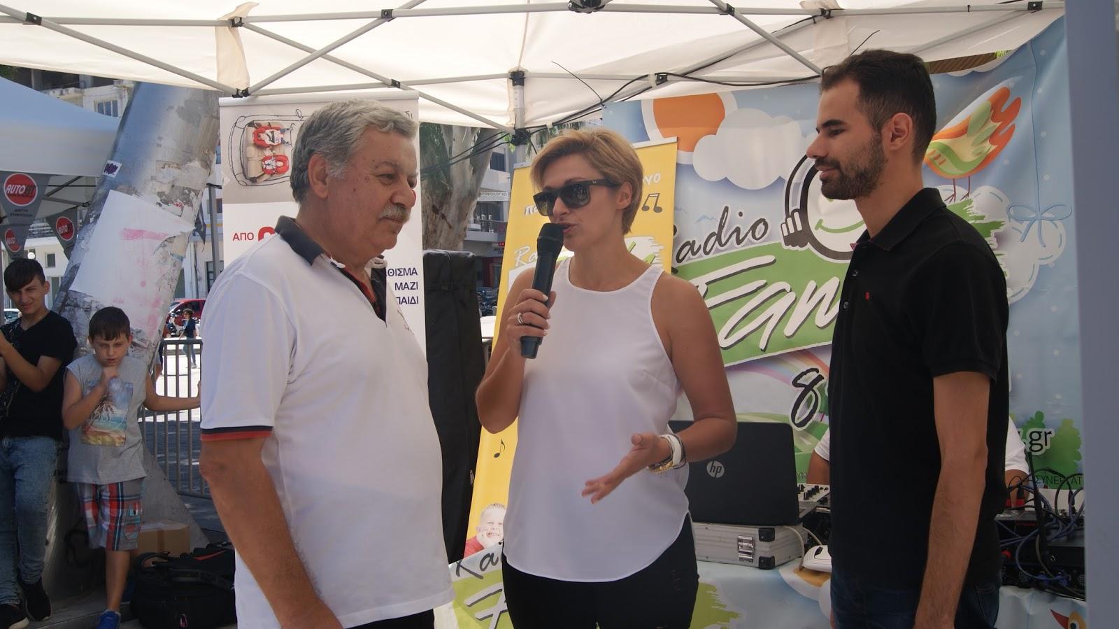 Ο κος Αυγουλάς και η κα Δαργαντή με τον Περιφερειακό Σύμβουλο κ. Νίκος Ξυλούρη