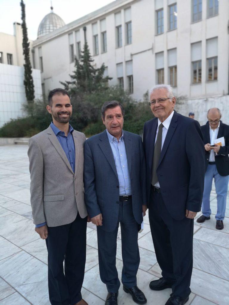 Ο Δημήτρης Κωνσταντάρας με τον Γιώργο Καμίνη και το Βαγγέλη Αυγουλά