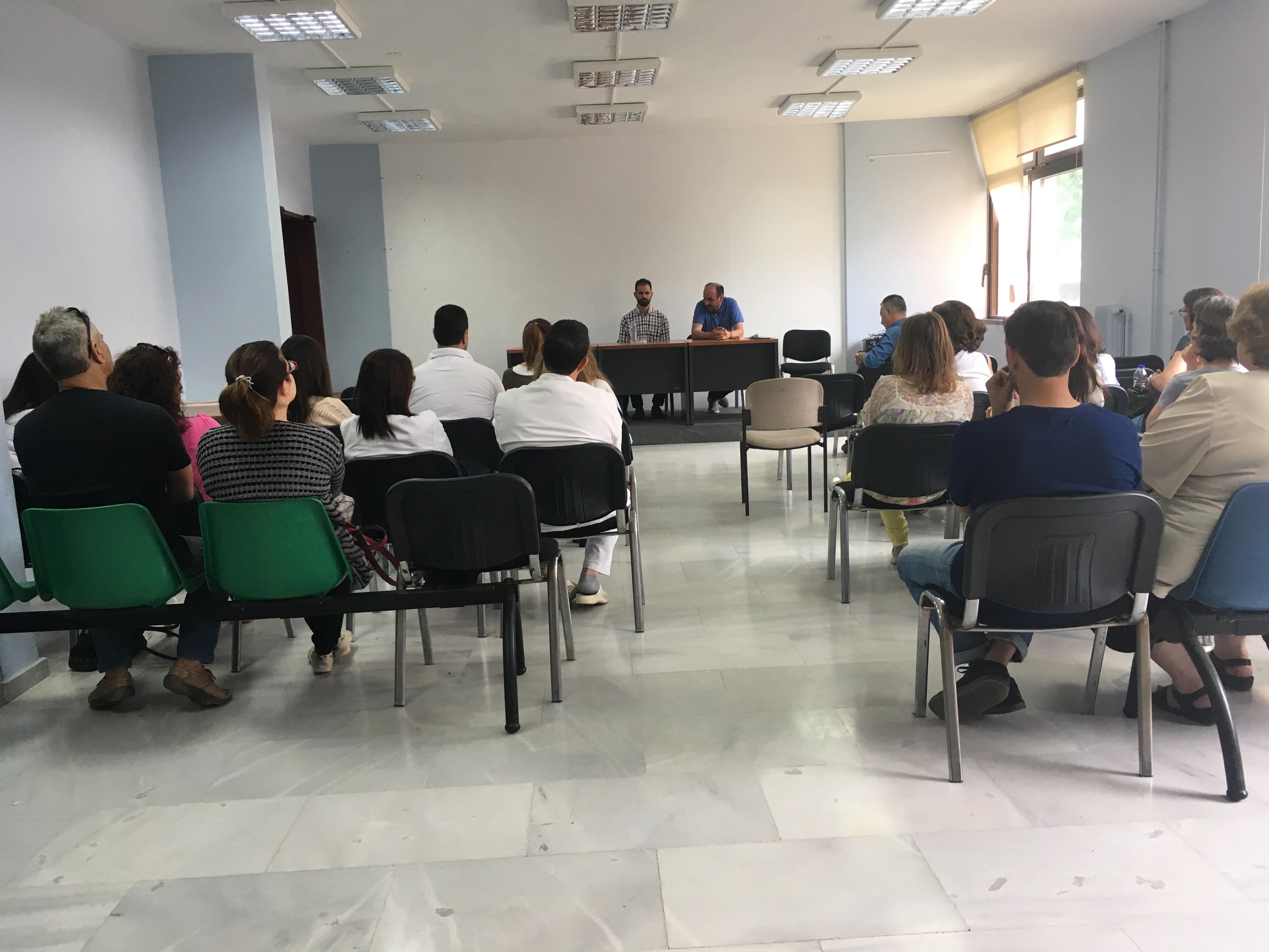 Ομιλία στους εργαζόμενους του νοσοκομείου