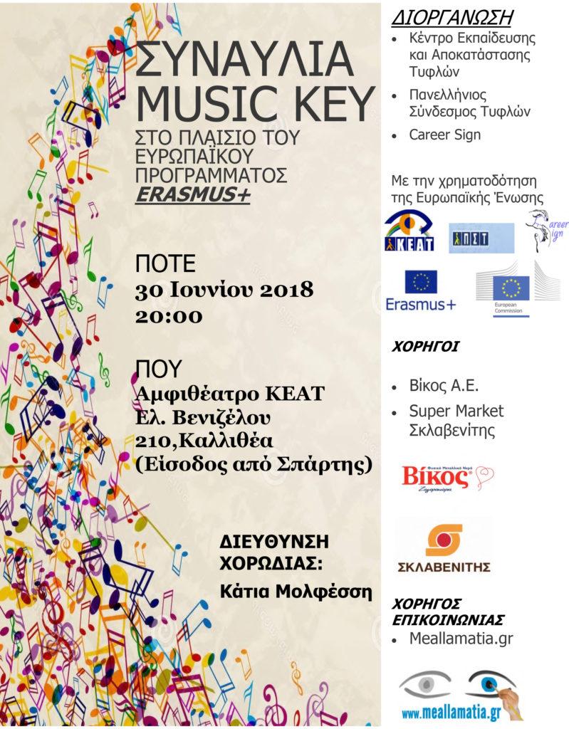 αφίσα music key