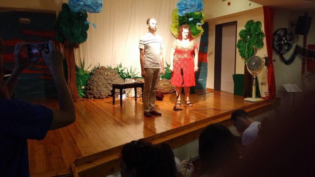 Ο Βαγγέλης Αυγουλάς και η Αιμιλία Πυλαρινού στη σκηνή μετά τη συναυλία