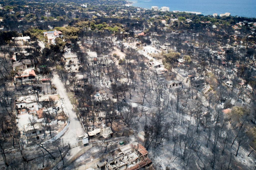 Η περιοχή Μάτι από ψηλά μετά την πυρκαγιά