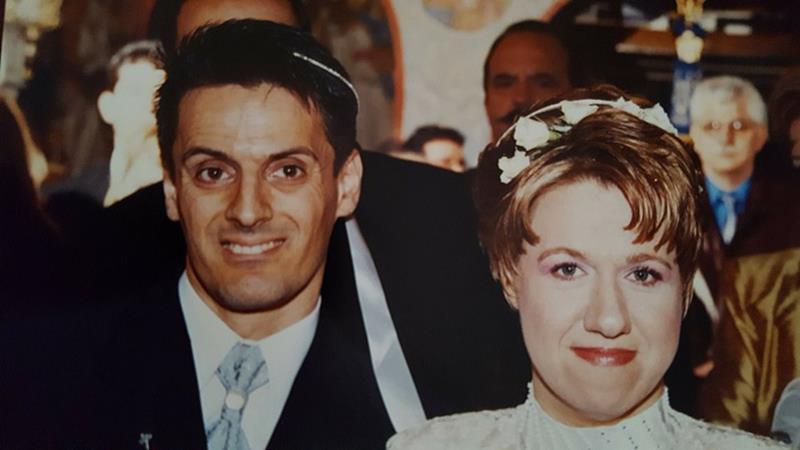 Ο Χρήστος και η Ειρήνη στο γάμο τους