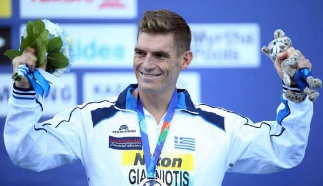 Ο Σπύρος Γιαννιώτης με μετάλλιο