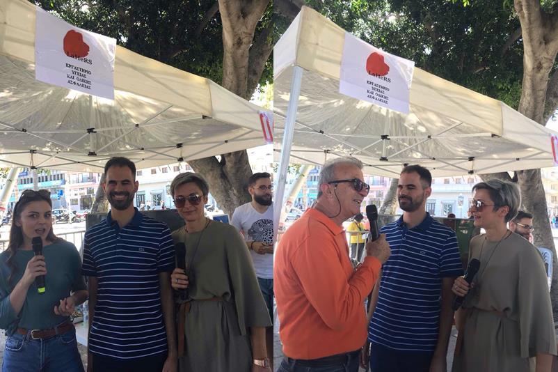 Ο Βαγγέλης Αυγουλάς με εκπροσώπους από την εταιρεία la hers