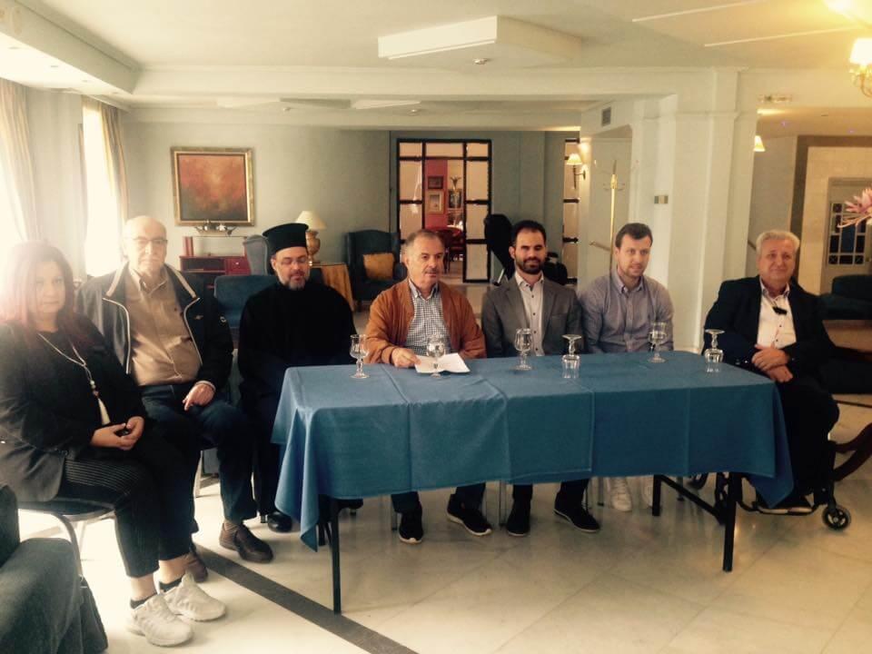 Στο πάνελ: ο Β.Αυγουλάς. ο Θ.Θεοδωρόπουλος, ο Η. Τσίγκας, ο Α. Γούλας, η Μ. Τσιστιμπίκου, ο Θ. Δεληγιάννης και ο πατήρ Γεώργιος