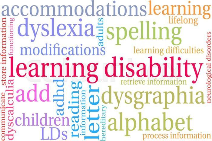 φωτογραφία που αναγράφει τις μαθησιακές δυσκολίες, δυσλεξία, δυσορθογραφία κτλ.
