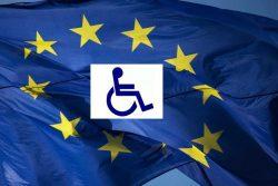το σήμα των ΑμεΑ και το σήμα της Ευρωπαϊκής Ένωσης