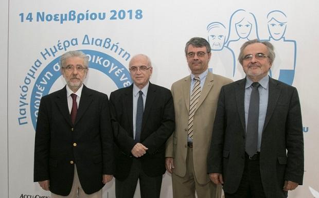 οι ομιλητές Γεώργιος Δημτριάδης, Σταύρος Παππάς,Κωνσταντίνος Μακρυλάκης και Ανδρέας Μελιδώνης
