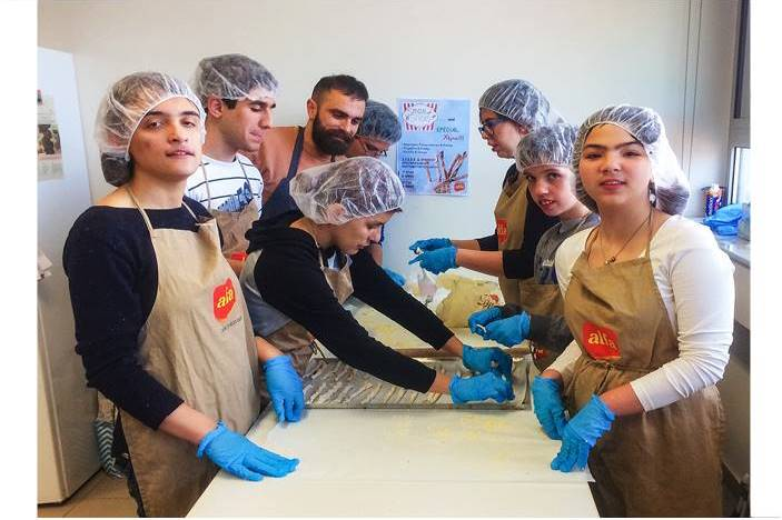 Ο Ευγενειάδης με τους μαθητές του στην παραγωγή