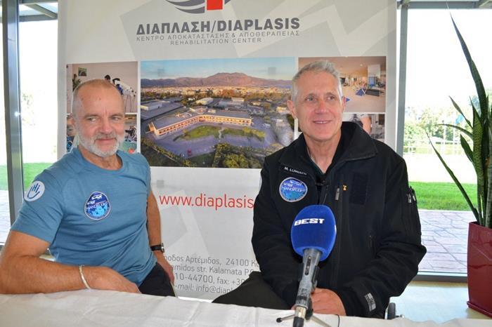 ο Γάλλος Guillaume Feral και ο Νοτιοαφρικανός Mike Lomberg,