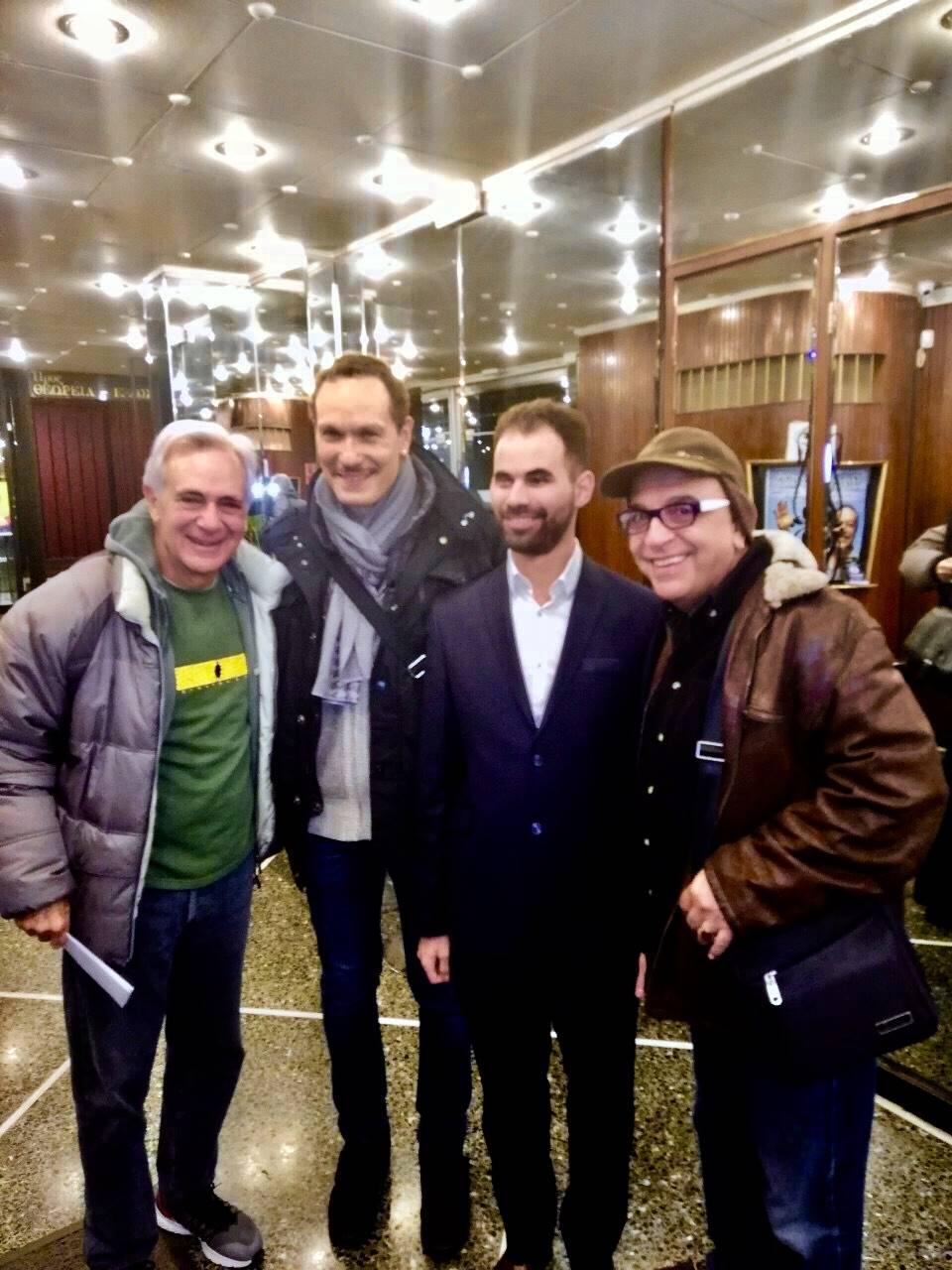 Ο Γιάννης Ζουγανέλης, ο Βασίλης Κούκουρας, ο Σπύρος Μπιμπίλας και ο Βαγγέλης Αυγουλάς