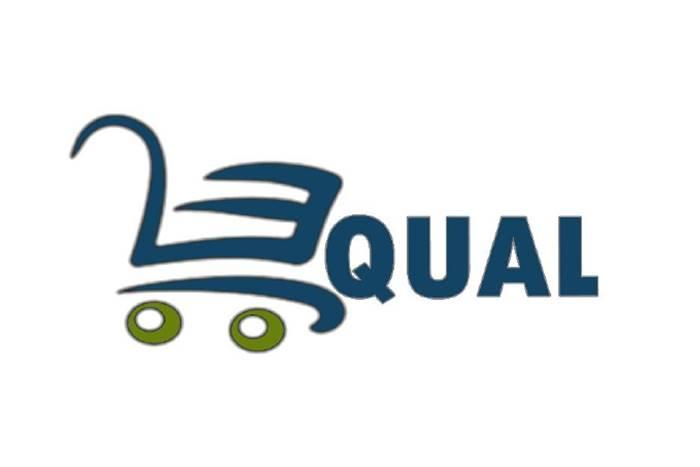 Λογότυπο equal με σκίτσο ένα καρότσι super market